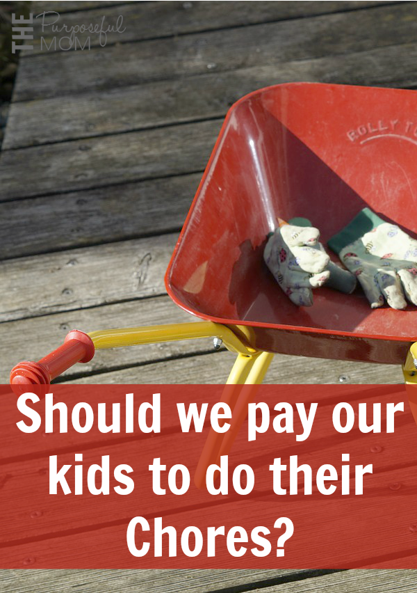 Should we pay our kids to do their chores? Or should they just be expected to help out? Is there a balance we can find that works for everyone? These questions, answered according to one mom's experience: find out if it can work for you!
