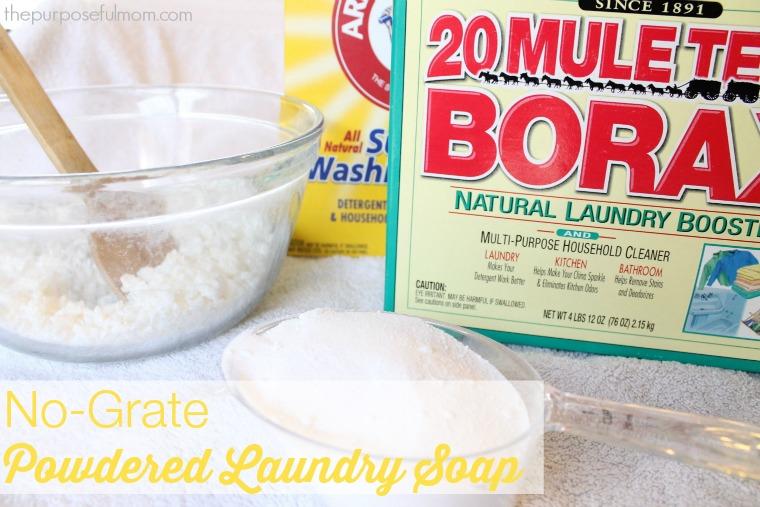 no grate powdered laundry detergent