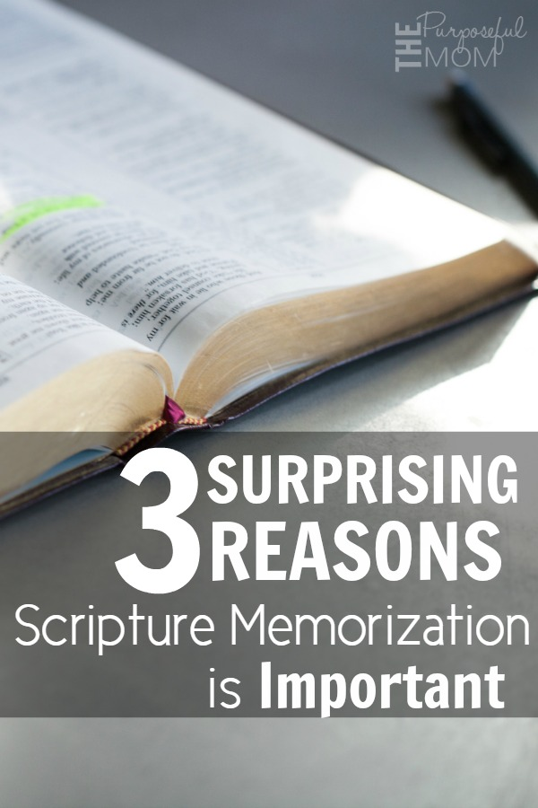 Here are three reasons Scripture memorization is important--one of them may surprise you!