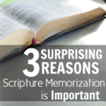3 Reasons Scripture Memorization is Important