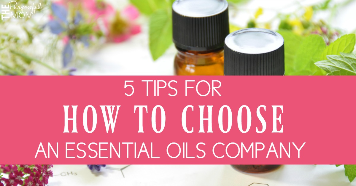 how to choose an essential oils company facebook