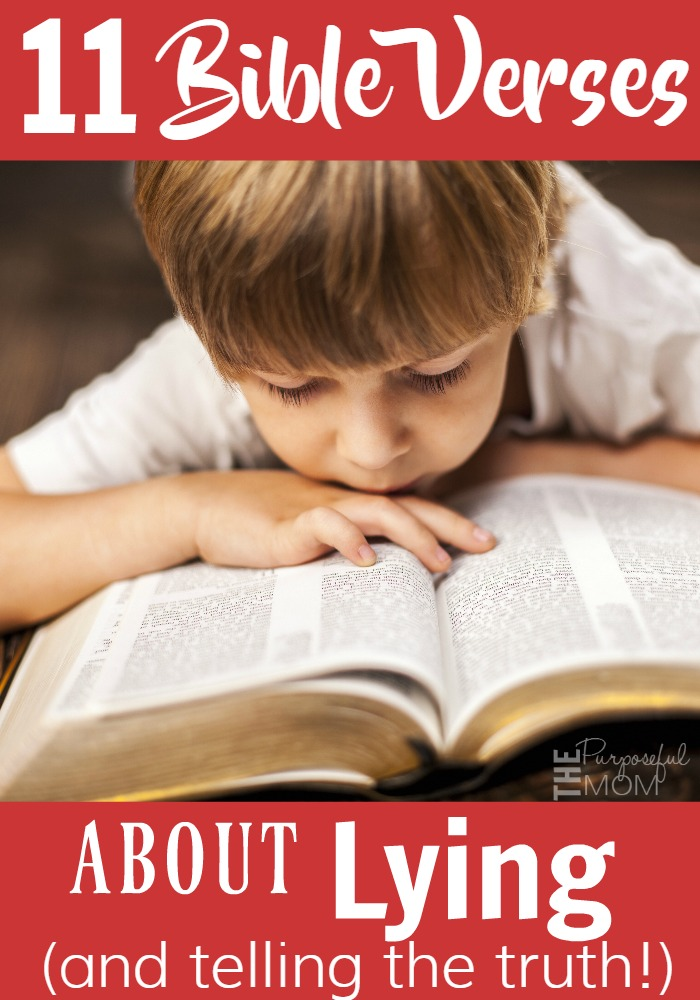 11 Bible verses that address lying and telling the truth! Help your kids learn what Scripture says about being honest!
