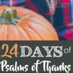 24 Days of Psalms of Thanks: Five Minute Devotions for Families