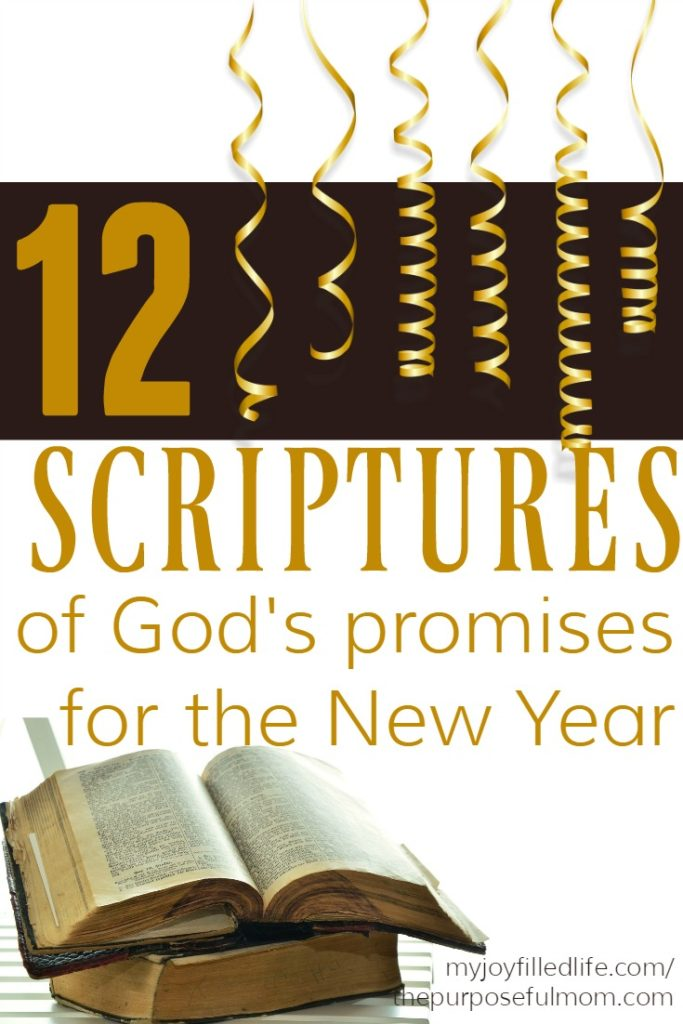 12 Scriptures of God\'s Promises for the New Year - The Purposeful Mom
