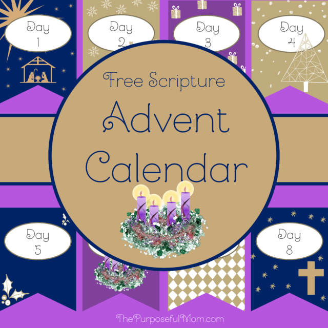 free Scripture Advent calendar banner