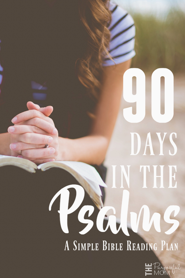 90 Days in the Psalms: A Simple Bible Reading Plan - This volume of Scripture ultimately teaches us who God is, through the use of songs and poems written on meaningful themes that seek to draw us into a deep and rich relationship with our Creator and Savior and a further understanding of His will and truth.