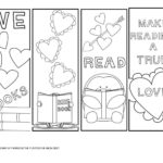 Free Valentine's Day Bookmarks to Color!