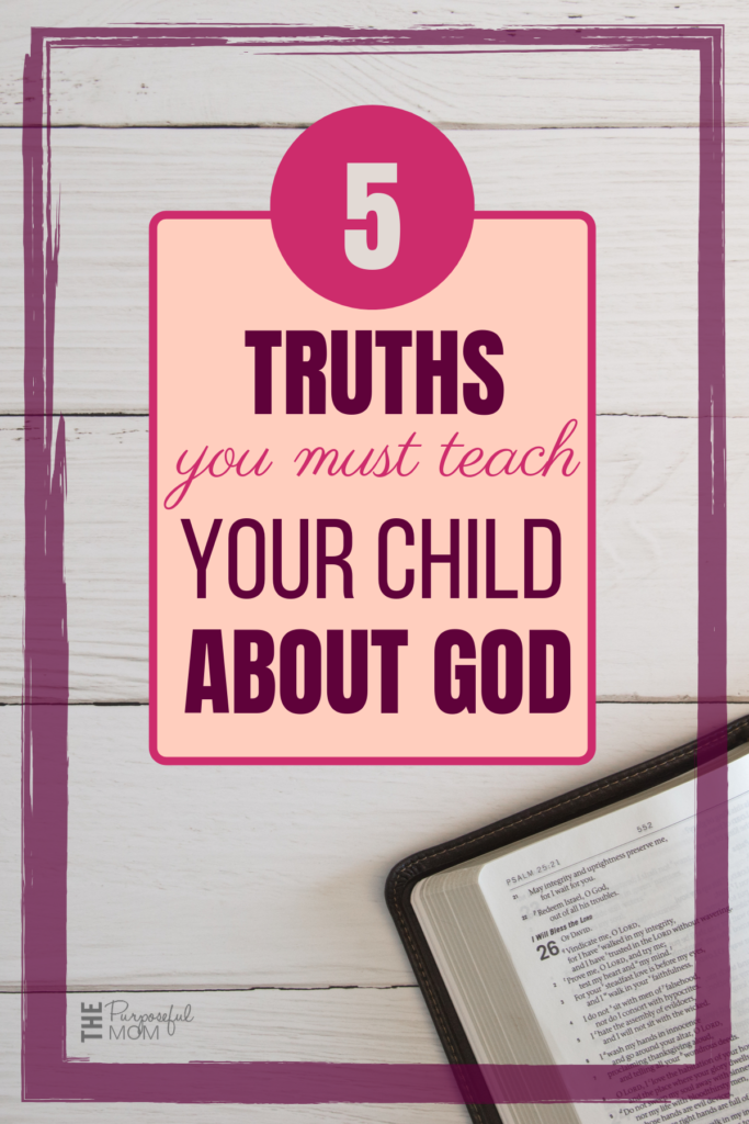 How to start teaching your child about God