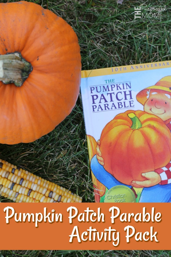 pumpkin patch parable activity pack for kids