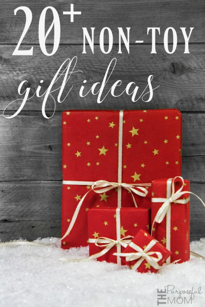 20 plus non toy gift ideas with lasting value to give you a more meaningful Christmas!
