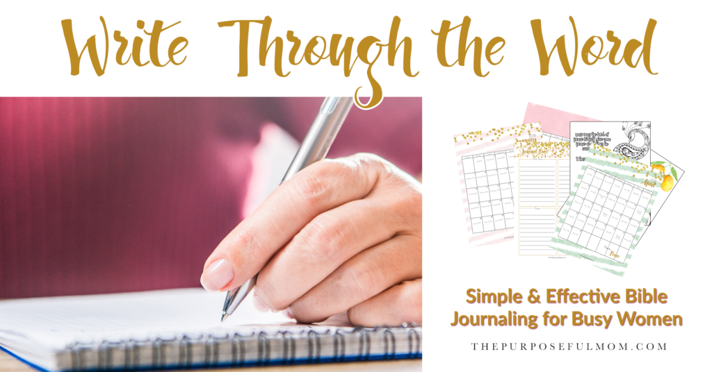 Write Through the Word: Simple, Effective Scripture Writing