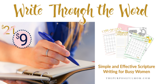 write through the Word Scripture writing for busy women
