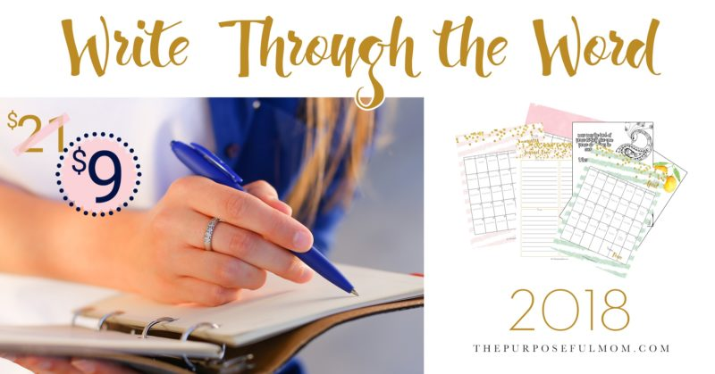 write through the word simple scripture writing for busy women the purposeful mom