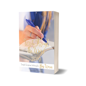 scripture writing program for busy moms