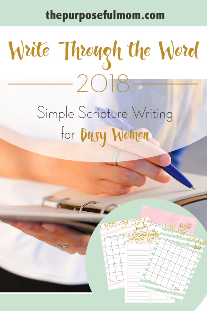 Write Through the Word: Simple Scripture Writing for Busy Women