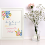 Easter and Spring Scripture Art Print!