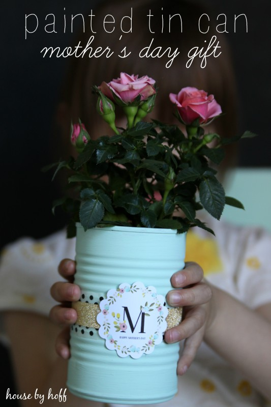 unique mother's day gifts painted tin can
