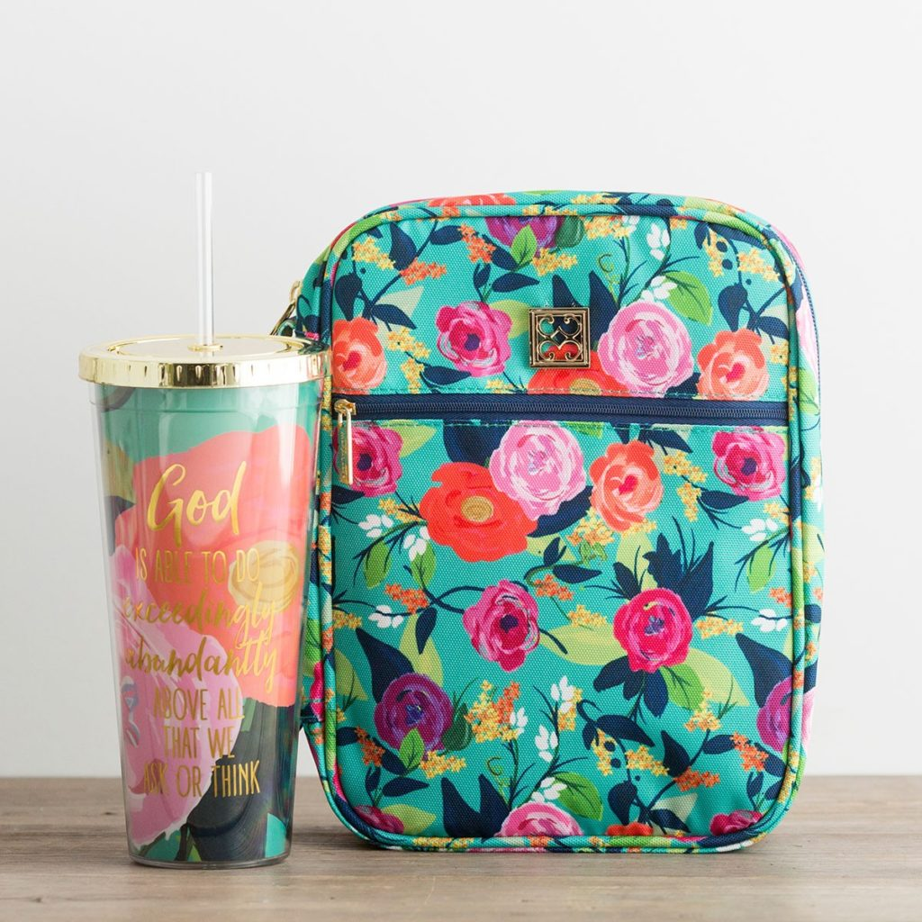 Floral Bible case and tumbler Dayspring