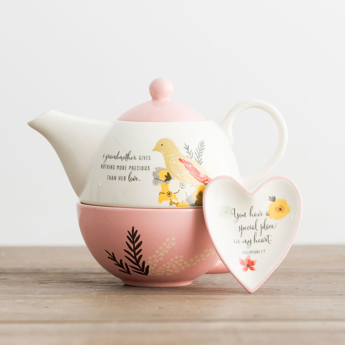 teapot with Bible verse