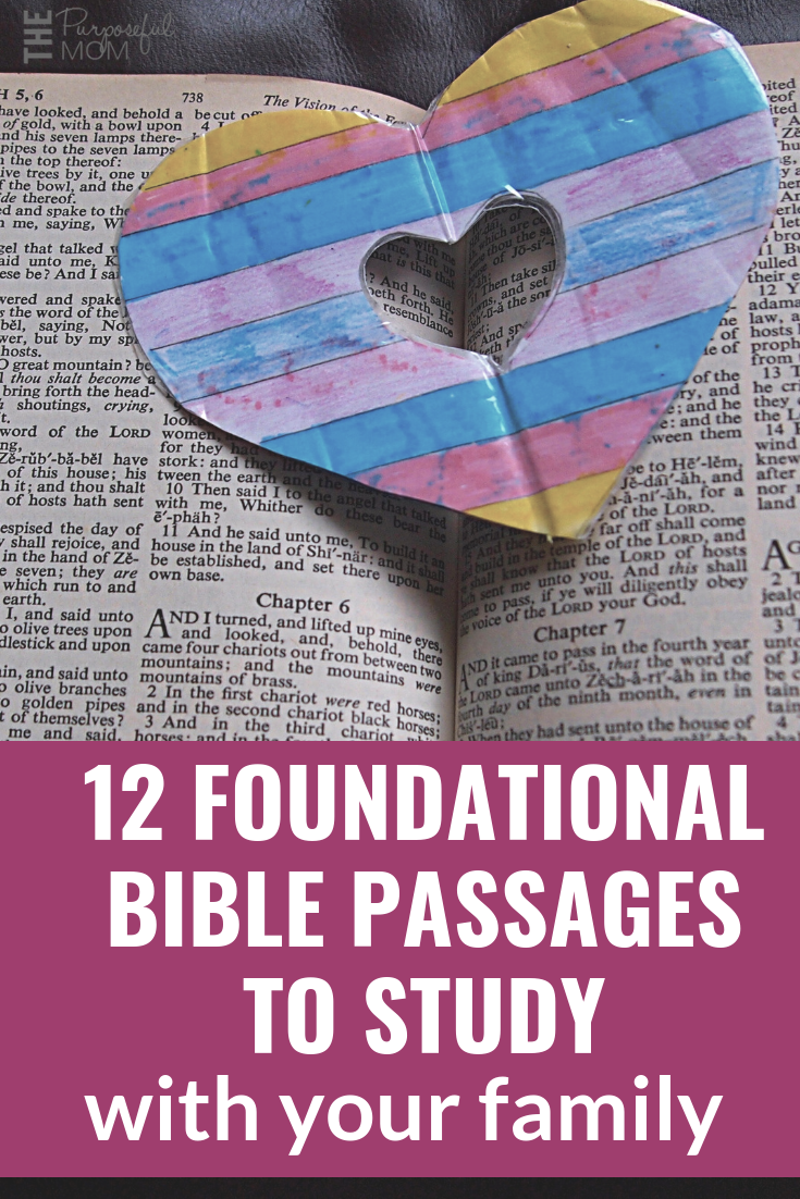 Important Bible verses to teach your kids