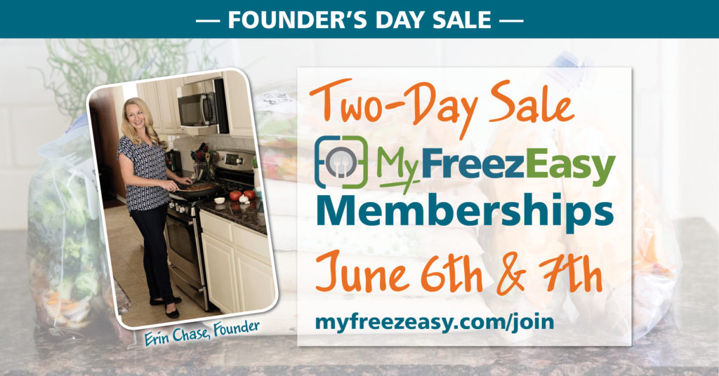 MyFreezEasy Freezer Cooking Membership Sale