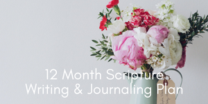Scripture writing and journaling for women