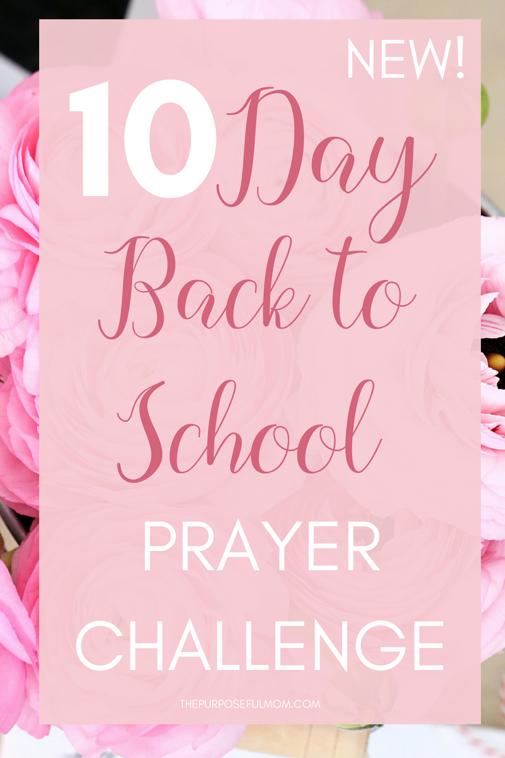 10 day back to school prayer challenge for kids