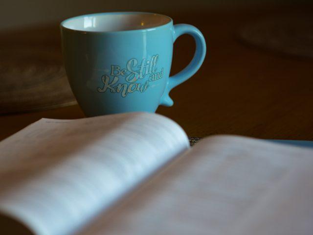 Bible verse mug and bible