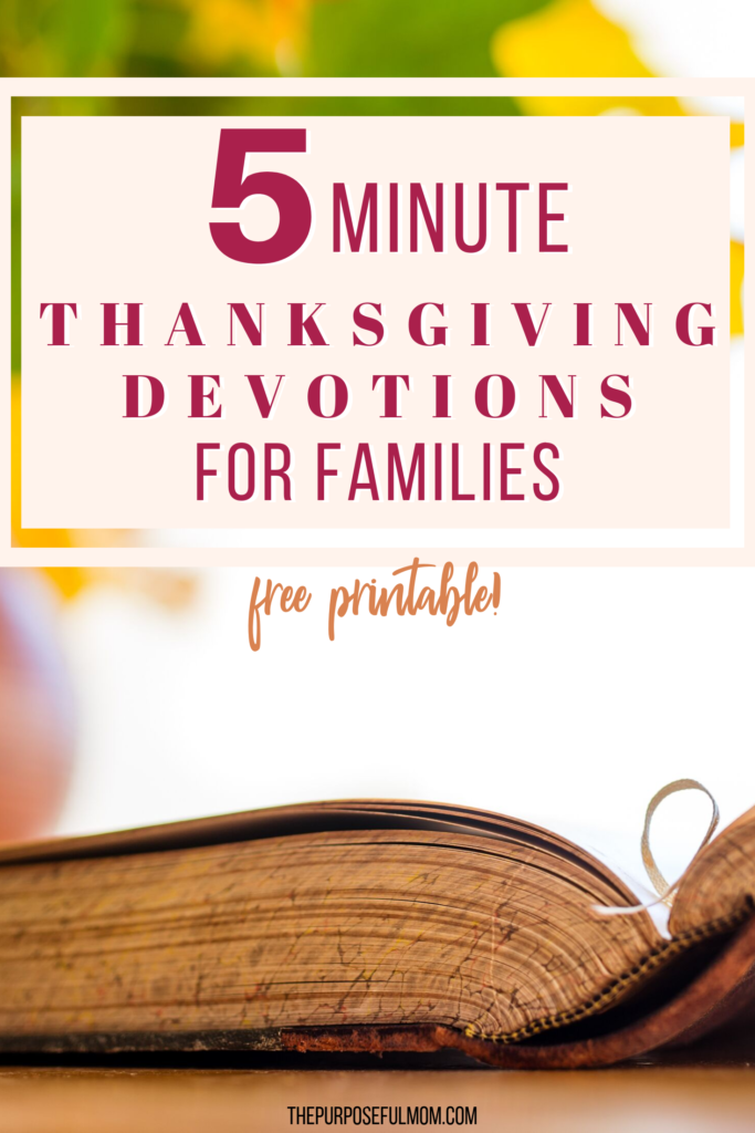 5 minute thanksgiving devotions for families