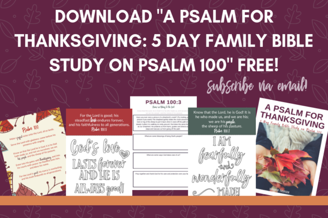 thanksgiving Bible study for families