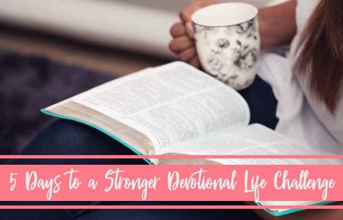 Nurture a stronger devotional life as a busy and overwhelmed mom! Take our five day encouraging challenge that will show you how to find time to read God's Word with intention!
