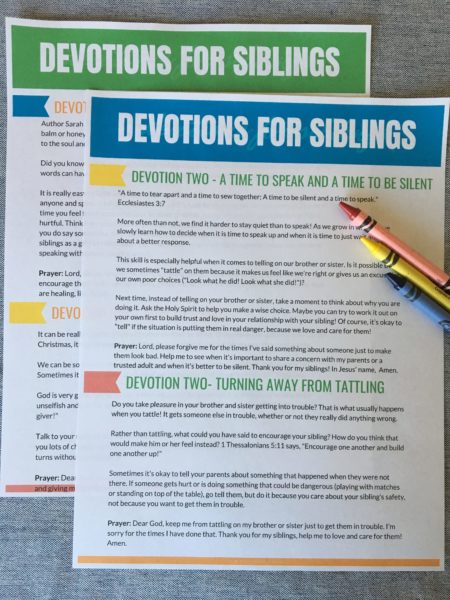 love one another sibling challenge workbook