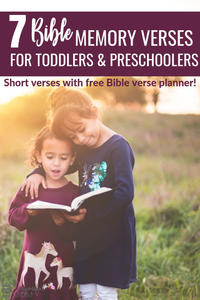 Short Bible memory verses for little kids with free printable