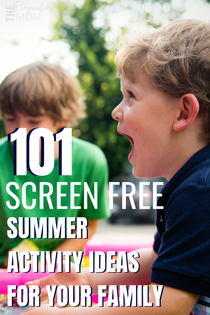 screen free summer activity ideas for your family