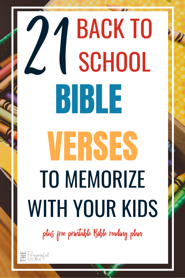 back to school Bible verses to memorize with your kids