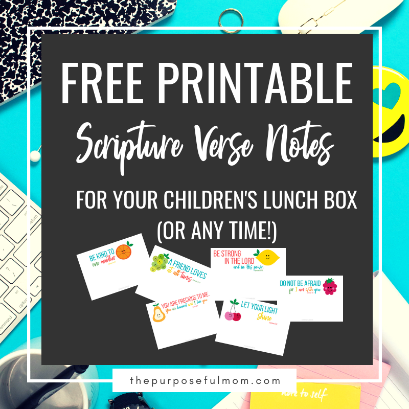 free printable scripture lunchbox notes
